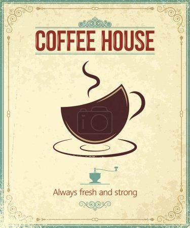 Photo pour Vintage fond de café 10 eps - image libre de droit