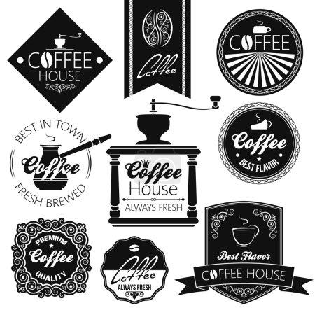 Photo pour Coffret café étiquettes 8 eps - image libre de droit
