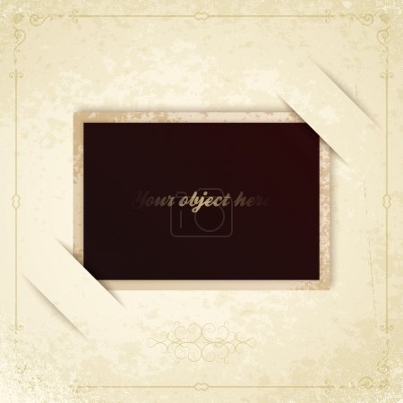 Illustration for Vector old vintage photo frame - Royalty Free Image