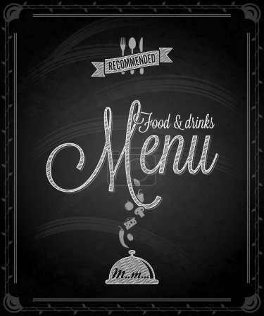 Photo pour Tableau - menu alimentaire cadre 10 eps - image libre de droit