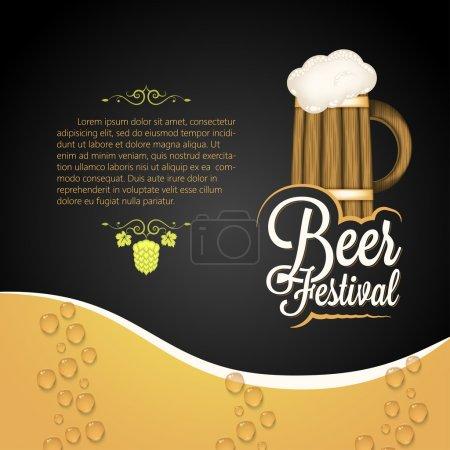 Illustration pour Vacances - cadre happy beer festival 10 eps - image libre de droit