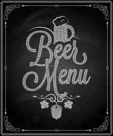 Photo pour Tableau - cadre menu bière 10 eps - image libre de droit