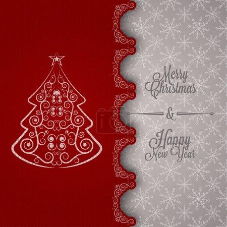 Photo pour Vacances - cadre joyeux noël heureux et nouvelle année 10 eps - image libre de droit
