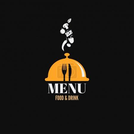 Photo pour Menu conception des plats de boissons alimentaires concept - image libre de droit