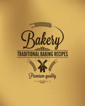 Photo pour Boulangerie vintage pain étiquette fond - image libre de droit