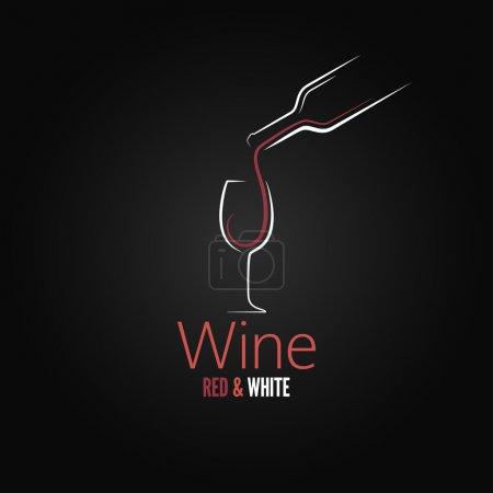 Illustration pour Verre à vin concept menu design - image libre de droit