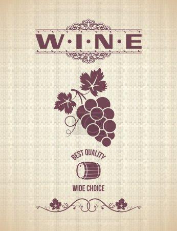Photo pour Vin millésime vignes étiquette fond - image libre de droit