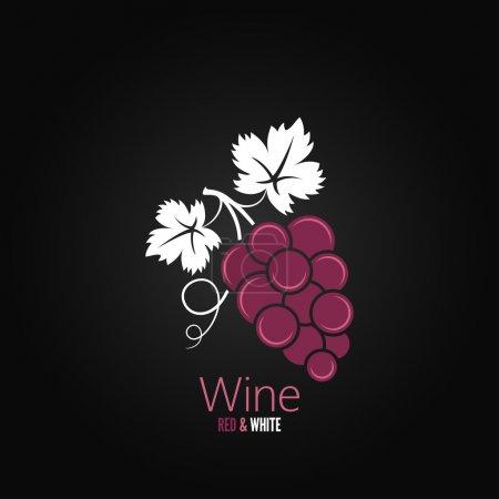 Illustration pour Vin raisin design menu fond 8 eps - image libre de droit