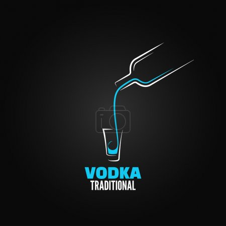 Vodka shot glass bottle design background