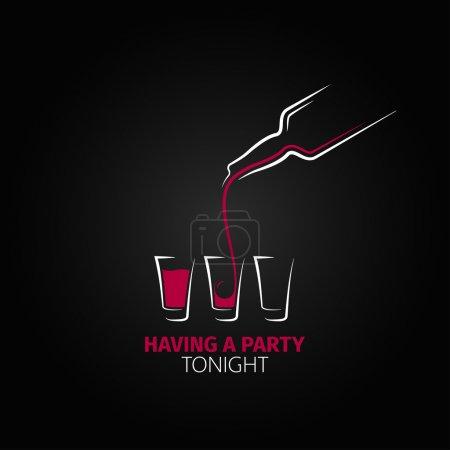 Illustration pour Cocktail shot bouteille en verre fond design 8 eps - image libre de droit
