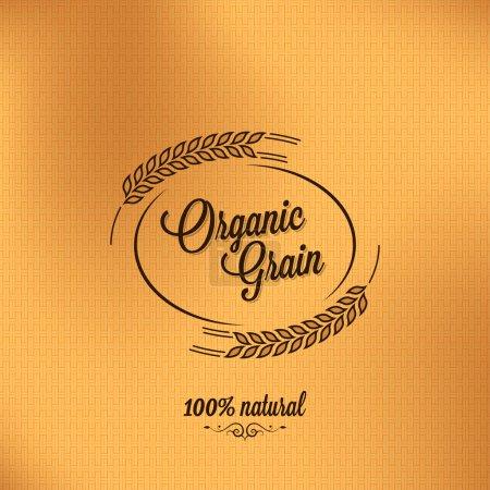 Photo pour Grain bio vintage fond design - image libre de droit