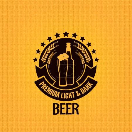 Photo pour Bouteille de bière verre fond vintage - image libre de droit