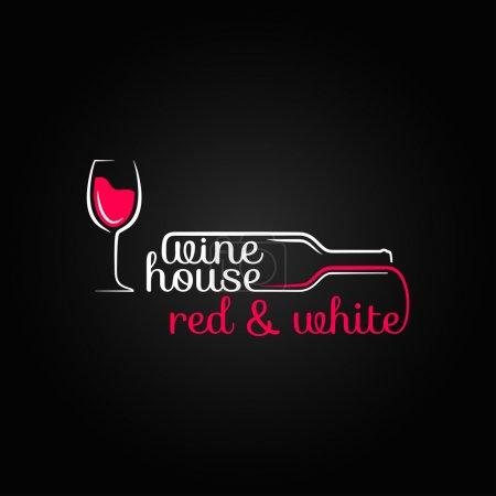 Illustration pour Bouteille de vin maison fond design - image libre de droit