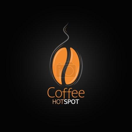 Photo pour Grain de café design menu fond - image libre de droit
