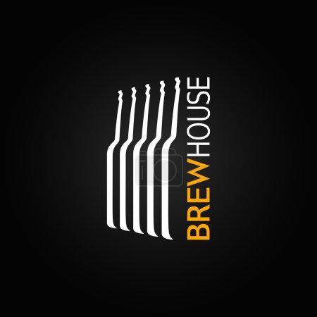 Photo pour Bière bouteille en verre fond design - image libre de droit