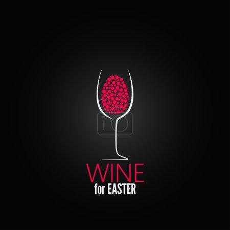 Photo pour Fond de conception de Pâques vin - image libre de droit