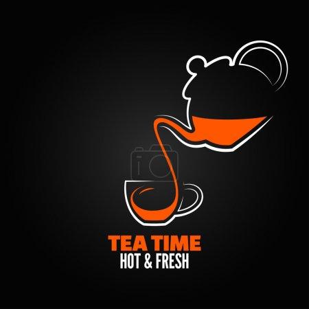 thé tasse design menu backgraund