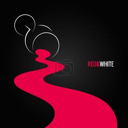 Illustration pour Verre à vin renversé fond design 8 eps - image libre de droit