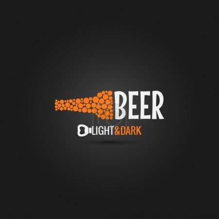 Photo pour Bouteille de bière ouvre fond design 10 eps - image libre de droit