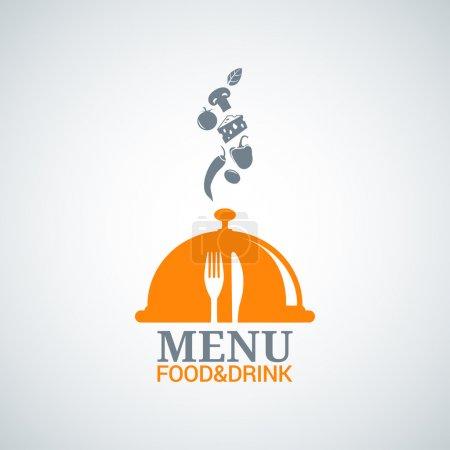 Photo pour Menu design nourriture boisson plats fond 8 eps - image libre de droit