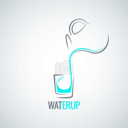 Water glass bottle menu background 8 eps