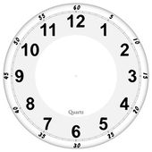 Clock face pattern easy to resize