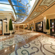 Interior of a modern very luxury shopping mall....