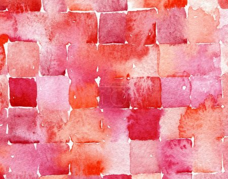 Red watercolor squares