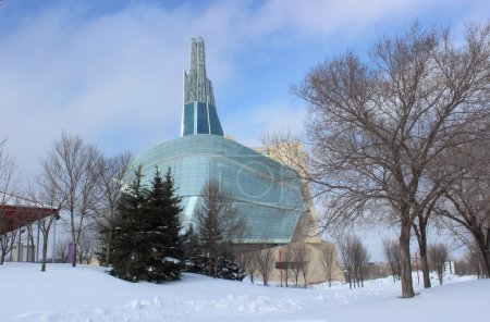 The Canadian Museum for Human Rights, Winnipeg, Manitoba, in Winter