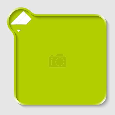 Illustration pour Zone de texte verte pour texte amy avec enveloppe - image libre de droit