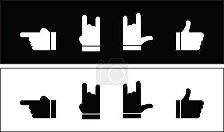 Four index finger