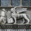 Photo. The doge of venice and lion...