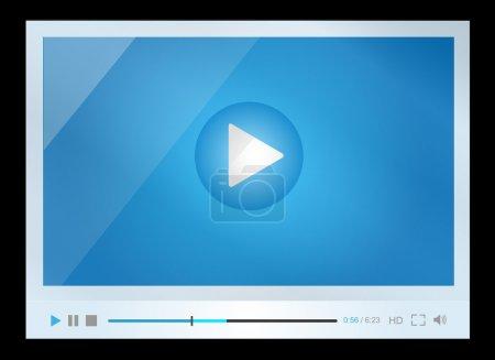 Illustration pour Vecteur eps 10. Lecteur vidéo pour web, design minimaliste - image libre de droit