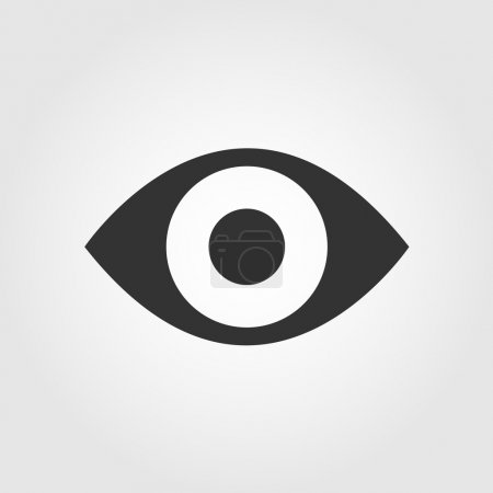 Eye icon, flat design