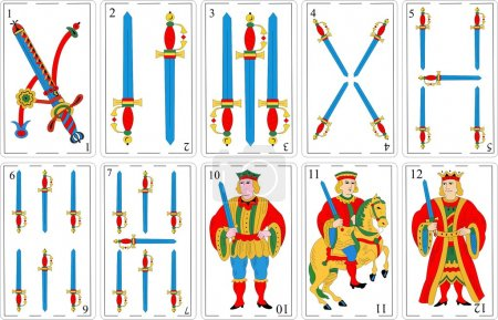 Illustration for Spanish decks vectorized collection 1 - Royalty Free Image