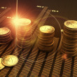 Financial business chart and coins...