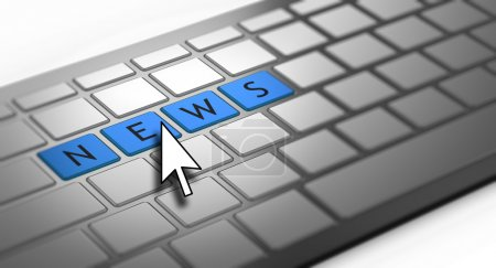 Photo for News word on keyboard - Royalty Free Image