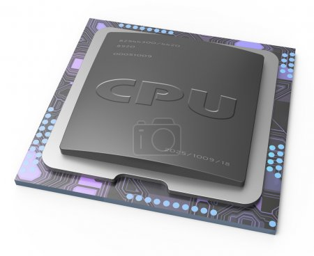 Photo for CPU, Central processor unit - Royalty Free Image