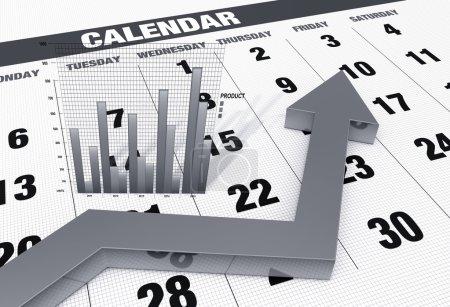 Photo pour Plan de calendrier d'affaires - image libre de droit