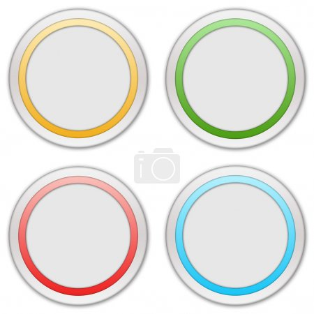 Photo for Collection of four web buttons - Royalty Free Image
