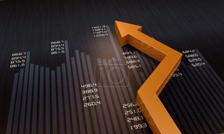 Photo pour Graphique financier et commercial et graphiques comme symboles de croissance - image libre de droit