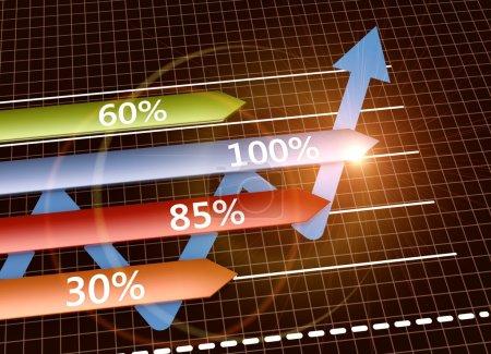 Photo pour Orientation financière comme concept d'entreprise - image libre de droit