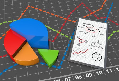 Photo pour Rapport de stratégie d'entreprise en tant que concept - image libre de droit