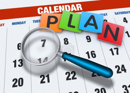 Photo for Planning calendar with events concept - Royalty Free Image