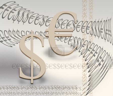 Photo for Financial symbols of the euro and the dollar as a concept - Royalty Free Image