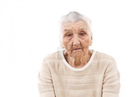 sad old woman in her 80s
