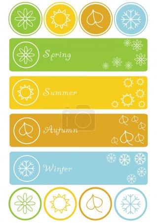 Set of four seasons symbols