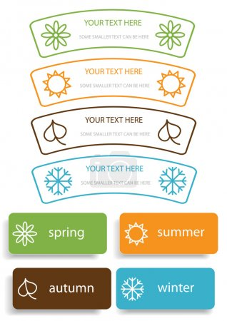 Vector concept with four seasons symbols