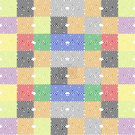 Abstract mosaic vector patchwork design
