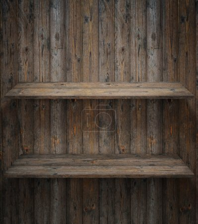 Photo for Wood shelf, grunge industrial interior - Royalty Free Image